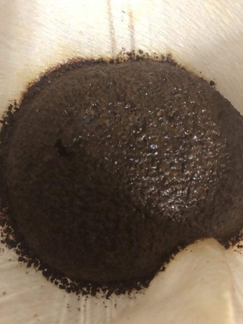 キリマンジャロコーヒーの蒸らし