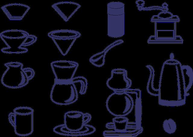 ハンドドリップコーヒーに必要な器具は全部で5つ