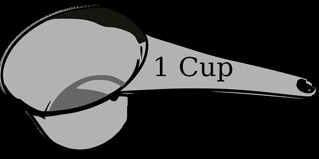 1杯の豆の量
