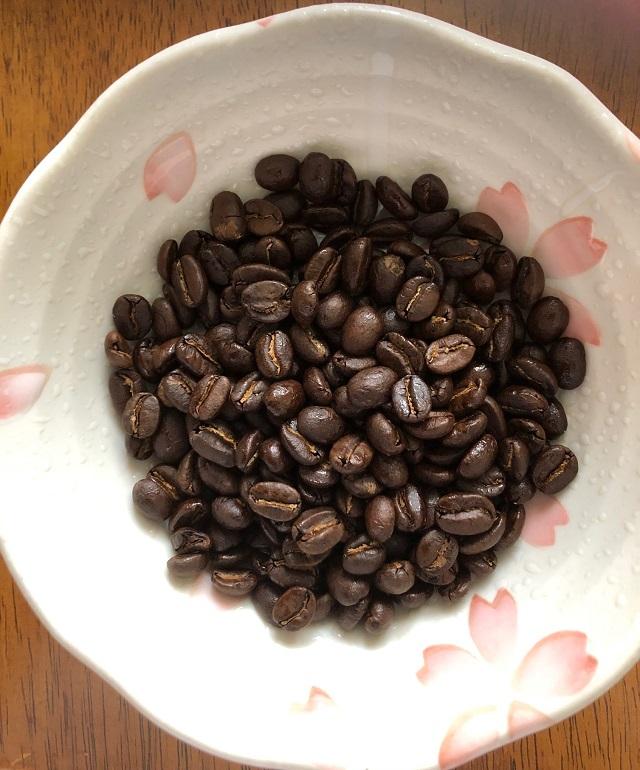 マラウイコーヒーの2杯分の豆
