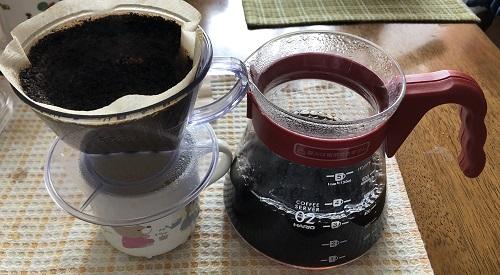 グァテマラコーヒーの抽出後