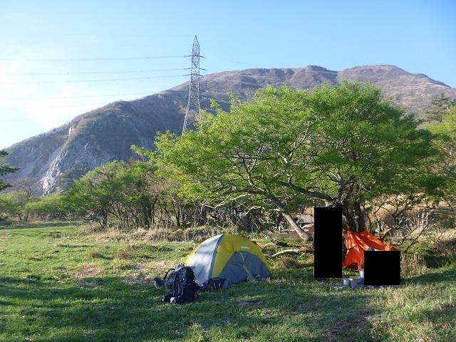 伊吹山のテント場