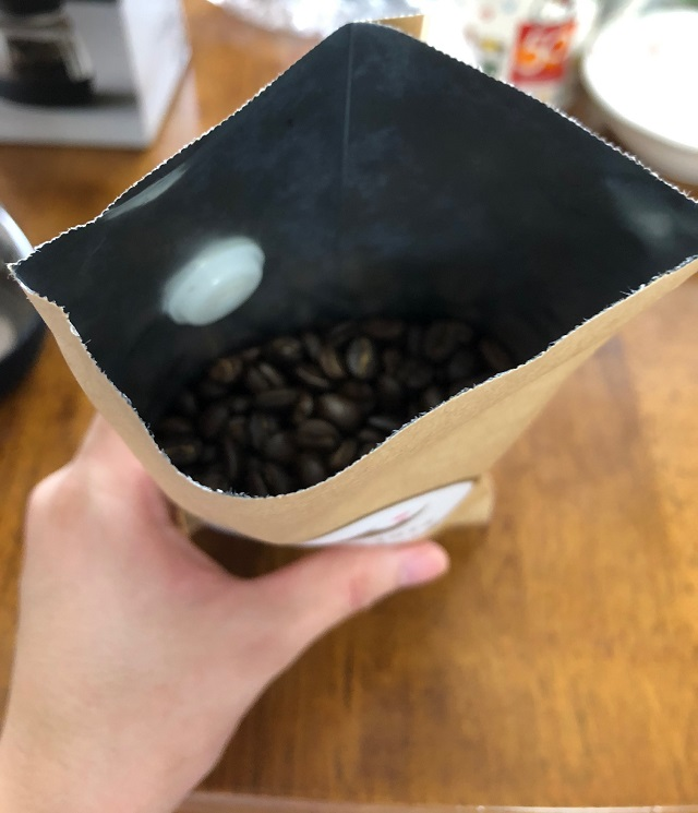 マラウイコーヒーの袋の中