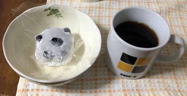 豆大福とハワイコナコーヒー