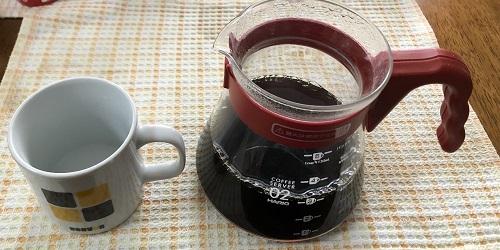 タイコーヒーの抽出完了