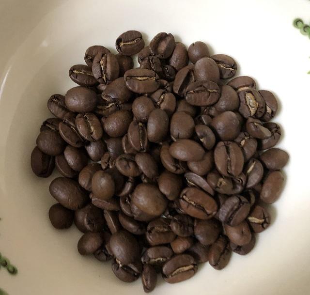 ハワイコナコーヒーの豆の様子