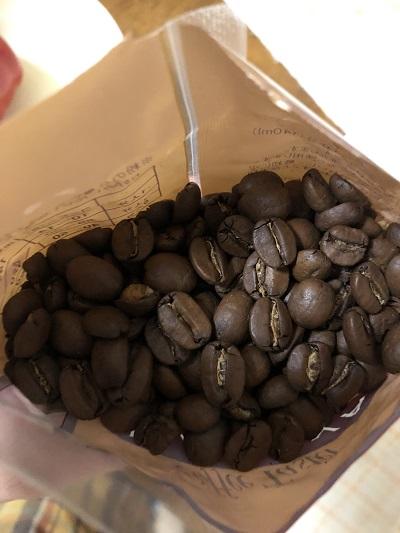 ハワイコナコーヒーの袋開封