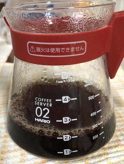 ハワイコナコーヒーを抽出