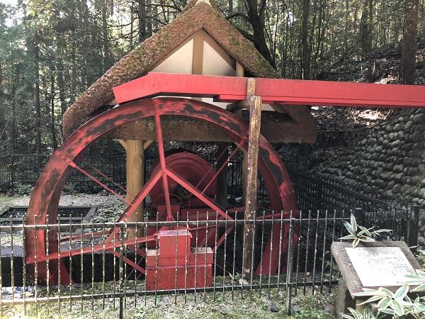 猿投山のトロミル水車