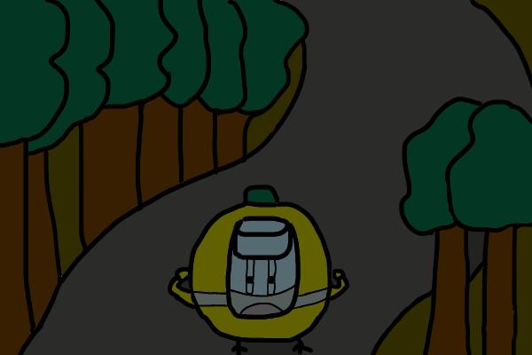 夜に猿投温泉までの道を歩く
